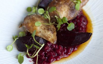 Norfolk Quail, Beetroot, Pearl Barley & Watercress