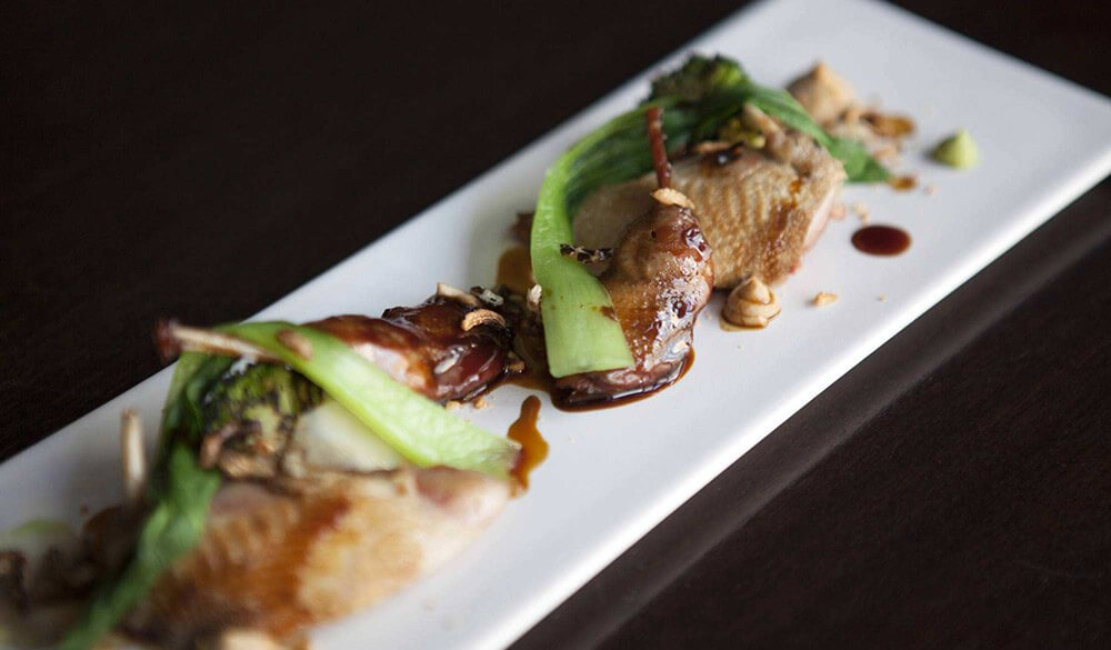 Roast Quail, Broccoli, Peanut and Lime