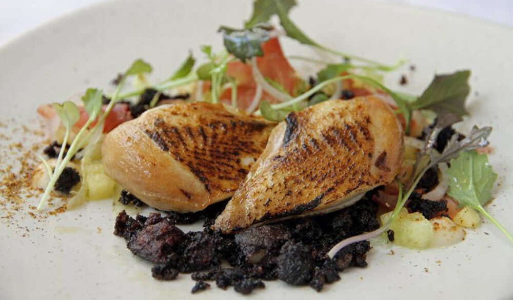 Norfolk black pudding and Norfolk Quail