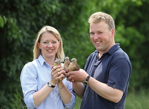 Ellie and John Savory - Norfolk Quail